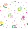 floral seamless pattern background embroidery vector image vector image