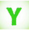 grass letter Y vector image vector image