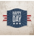 Happy Independence Day Holiday Tag vector image vector image