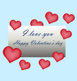 happy valentine day greeting card hand written vector image vector image
