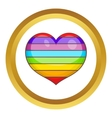 Heart in colours of LGBT icon vector image vector image