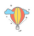 hot air balloons icon design vector image vector image