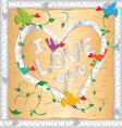 I love you frame vector image vector image