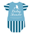 isolated baby shower label vector image