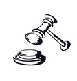 judge gavelsketch shape from vector image