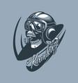 kamikaze skull in aircraft cabin monochromic vector image vector image