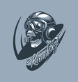 kamikaze skull in the aircraft cabin monochromic vector image vector image