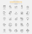 Line icons set Business Marketing vector image