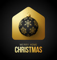 luxury gold merry home christmas 2020 card vector image vector image