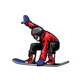 man ride snowboard and doing stunt vector image vector image