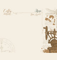 menu for coffee house with retro coffee grinder vector image
