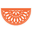 mexican party template design papel picado vector image