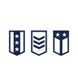 military ranks army epaulettes on white vector image vector image