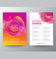 modern abstract fluid orange magenta circle shape vector image