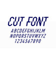 modern style cut font design alphabet and numbers vector image