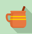mug of mexican drink icon flat style vector image vector image