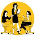 office scene women business team vector image