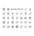 outline icons set vector image