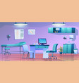 panorama doctors office interior clinic room vector image vector image