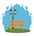 park scene landscape icon vector image