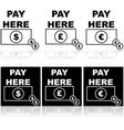 pay here vector image vector image