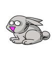 rabbit cartoon hand drawn image vector image