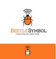 red beetle with wifi signal logo vector image vector image