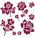 rose and iris icons vector image vector image