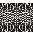 Seamless Black And White Hexagonal vector image vector image