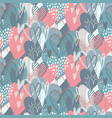 seamless pattern with hand drawn hearts in vector image