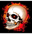 skull with glowing red eyes on a background of the vector image vector image
