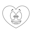 smiling heart cartoon icon vector image vector image