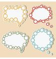 speech bubbles gears vector image vector image