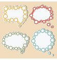 Speech bubbles of gears vector image vector image
