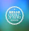 Spring Vintage Typographic Badge on Colorful vector image vector image