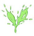The tea leaf drawn liquid green splash vector image vector image