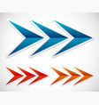 triple arrows arrows right vector image