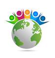 unity world people logo vector image vector image