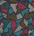 urban seamless pattern vector image vector image