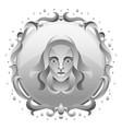 virgo zodiac sign with silver frame horoscope vector image vector image