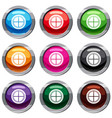 white round window set 9 collection vector image vector image