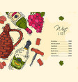 wine list taste club banner vector image