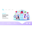 woman and man searching love partner on dating web vector image