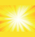 yellow rays background vector image