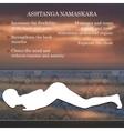 yoga pose infographics benefits practice vector image vector image