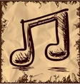 Double music note isolated on vintage background vector image