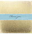 retro golden decorative card with thank you sample vector image
