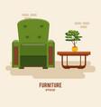 furniture home interior vector image