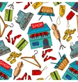 Shopping seamless pattern background vector image