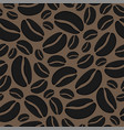 abstract background with seamless coffee bean vector image